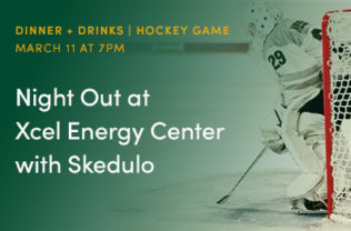 Night out at Xcel Energy Center with Skedulo